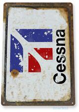 Cessna Sign, Airplane Hangar, Retro Pilot General Aviation Airport Tin Sign B871