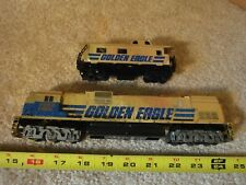 Tyco Golden Eagle 1102, HO locomotive and caboose, diesel engine train set.