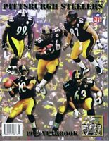 1999 Pittsburgh Steelers Yearbook Joey Porter Aaron Smith Rookie