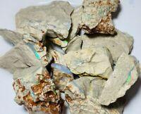 Australian ROUGH OPAL LOTS POTENTIAL 460ct VIRGIN SEAMS MULTI COLOUR &BARS GB277