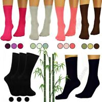Ladies Super Soft Gentle 3 6 12 Pairs Pack Size 4-7 Bamboo Grip Womens Socks