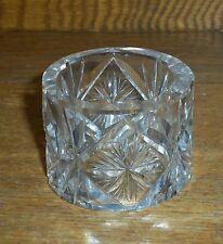 Cut Glass Napkin Ring - Bergen - Norway