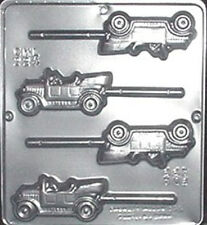 Antique Cars Lollipop Chocolate Candy Mold  224 NEW