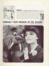 "1961 Mgm Records Anna Maria ""Carnival!"" Print Ad"