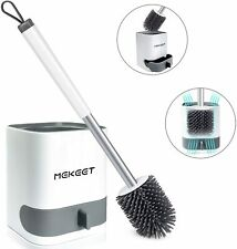 Bathroom Toilet Brush and Holder Set Toilet Bowl Cleaner Brush with Holder -Wall