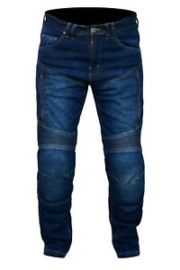 Mens Motorcycle Jeans Motorbike Pant Denim Trousers CE Armoured Made with Kevlar