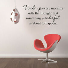 Wall Stickers Wake up Every Morning Inspirational Quotes Vinyl Bedroom Decals