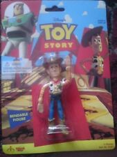 TOY STORY WOODY Original Bendable ACTION FIGURE DISNEY PIXAR New on Card