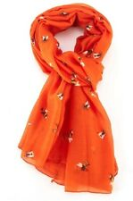 Bee Scarf Orange Wasp Busy Bees Scarfs Wrap Shawl Scarves Summer Ladies Gift New