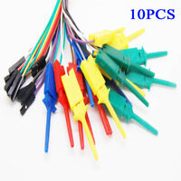 10xTest Hook Clip fit For Logic Analyser Dupont Cable Arduino Raspberry Pi 28cm&