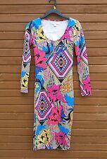 NEW Nicki Minaj Colorful Psychodelic Floral & Geometic shapes XS Bodycon Dress
