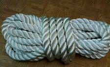 """New 50 Feet of 1-5/8 inch 100% nylon rope(TOW/ANCHOR/MORING/FITNESS)""""75K BREAK"""""""