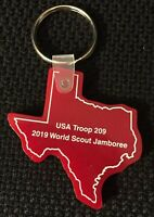 WSJ 2019 World Scout Jamboree Texas Contingent USA Keychain Troop 209.         C