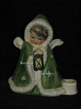 Goebel Figur Robson Engel Angel mit Laterne und Kerzenständer, grün, 42-412