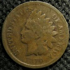1870 Indian Head Cent with large die break. Pick-axe variety!