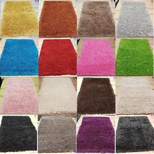 XLARGE Luxurious Modern 5cm Thick High Pile Plain Super Soft NON-SHED Shaggy Rug
