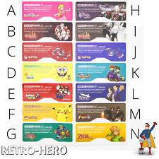 Game Boy Advance SP Aufkleber GBA Sticker Label gameboy Serie Mario - 14 Motive