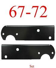 67 72 Chevy Black Stepside Tail Light Bracket Set, GMC Truck