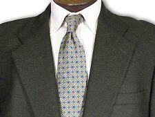 $2395 Belvest Cashmere Wool Dark green/Black Herringbone Sport Coat 46 B044