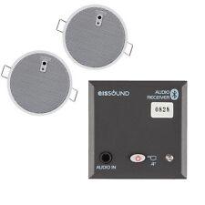 """EIS Sound In Wall Bluetooth Receiver Amplifier + 2 x 2.5"""" Speaker Bundle"""