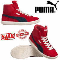 ✅ 24Hr DELIVERY✅PUMA ARCHIVE BASKET SHOES RED LEATHER HI-TOP RETRO BOOTS