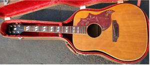 1968 Gibson Hummingbird Natural Acoustic Guitar w Case