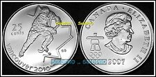 CANADA 2007 CANADIAN QUARTER DOLLAR VANCOUVER OLYMPIC HOCKEY 25 CENT COIN UNC
