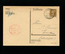 Zeppelin Sieger 34k 1929 2nd Germany Flight Bordpost Germany Post Oldenburg Drop