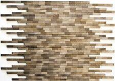 Mosaik Aluminium Verbund gebürstet Coloured Dark Küche Art: 49-L103D   10 Matten