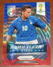 2014 Prizm World Cup Stars Roberto Baggio BWR Wave Italy Refractor #44 b