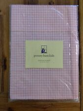 Pottery Barn Kids Gingham Valance 18 Inches Pink White NEW in package