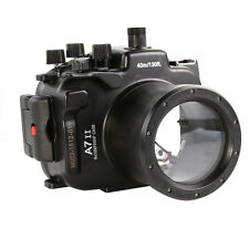 MEIKON 40m/130ft Underwater Waterproof Housing Case for Sony A7II A7R II A7S II
