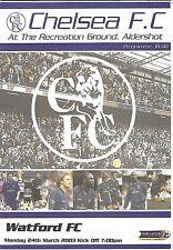 Football Programme>CHELSEA RESERVES v WATFORD RESERVES Mar 2003