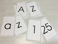LAMINATED- Numbers & Letters (Upper And Lower Case)  Flash card Set  - 78 Cards.