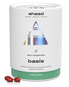 ahead BASIS   Vitamin D3 + K2 + Omega 3 + Magnesium hochdosiert - 180 Kapseln