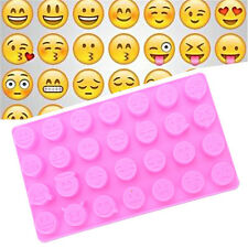 Emoji Funny Face DIY Silicone For Cake Chocolate Sugar Candy Soap Baking Mould>F