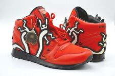 NDS Reebok CL Leather Mid Lux Keith Haring Techy Red/White/Black Pump Rare 10.5