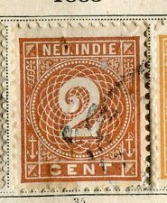 NETHERLAND INDIES;  1883 early numeral issue fine used 2c. value