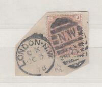 GB QV 1873/80 2 1/2d On Piece SG141 Plate 12 Superb London CDS J513