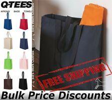 """Q-Tees 27Lt Jumbo Canvas Shopping Bag Tote Q125400 14""""W x 17""""H x 7""""D"""