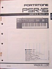 Yamaha PSR-16 Portatone Portable Keyboard Original Service Manual, Schematics