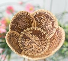 Wooden Decorative Plate * Birch Bark Bear Kitchen * handmade in Russia