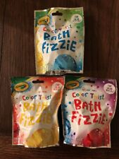 3 Crayola Color-Twist Bath Bomb Fizzie for Kids (Color Changing) Bn22