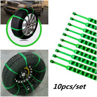 10X Car Anti-skid Chains Snow Tyre Tire Wheel Nylon Chain Belt for Vehicles SUV