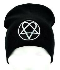 HIM Heartagram Beanie Occult Clothing Knit Cap Ville Valo Gloom Love Metal Goth