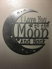 Metal Wall Art Decor I Love You To The Moon And Back