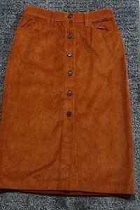 Zara Cord Skirt UK 8 US 4