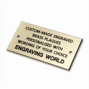 152mm x 76mm Brass Personalised Engraved Plaque Sign