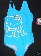 Hello Kitty Swim Suit Lined Aqua Blue Rhinestones 4 Girls Bling New