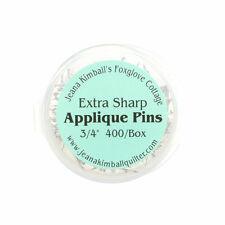 "Jeanna Kimball's Foxglove Cottage 400 Extra-Sharp Applique Pins 3/4"""